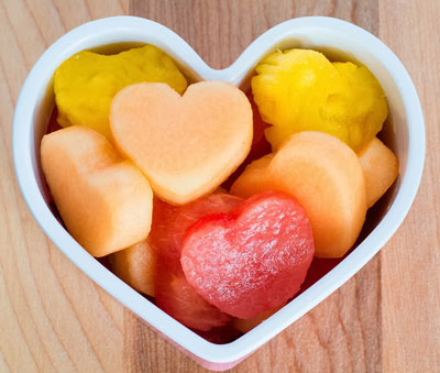 heart fruit salad