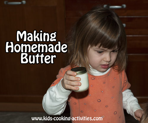 shaking homemade butter