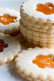 jam wreath cookies