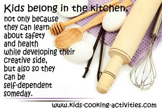 kids belong in the kitchen