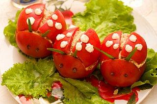 ladybug shaped food