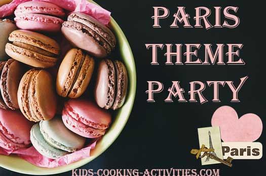 paris theme party food ideas