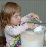 measuring flour