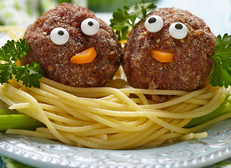 meatballs with eyes
