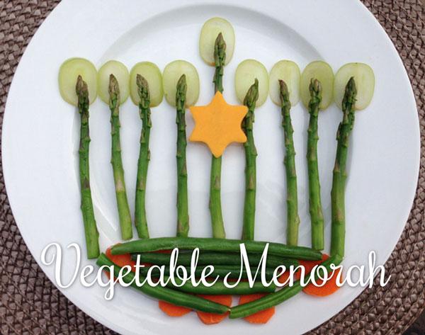 vegetable menorah