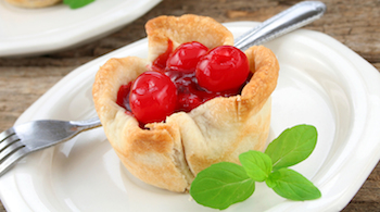 mini cherry pie