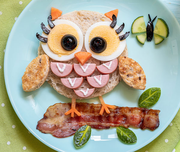 owl open face sandwich