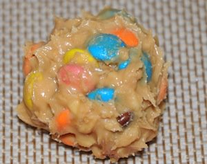 peanut butter m&m truffle