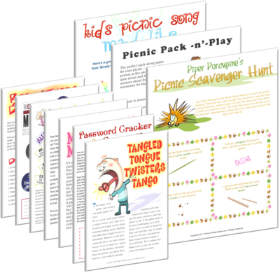 Picnic Game Ideas: Bargain Hamper of Printable Games