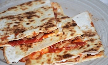 pizza quesadilla