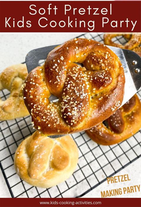 pretzel kids cooking party