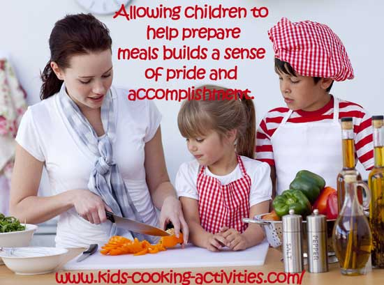 kids take pride in cooking