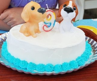 cake with figurines