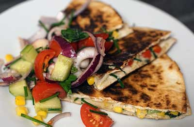 vegeatble quesadilla
