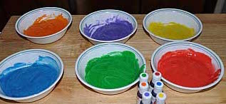 rainbow cupcake batter colored