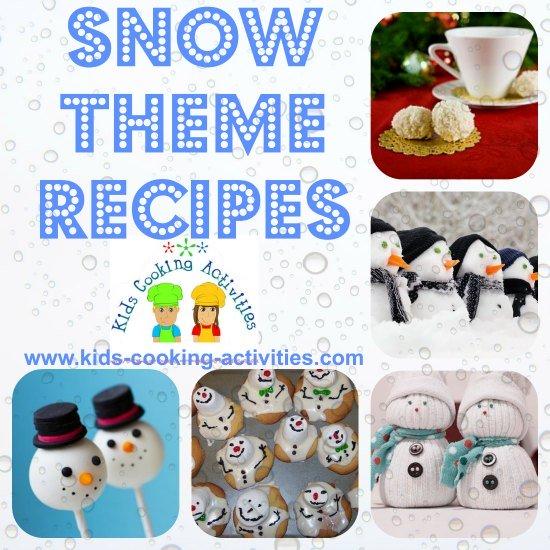 snow theme recipes