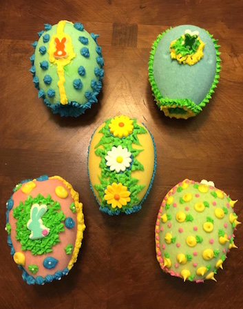 sugar eggs decorated