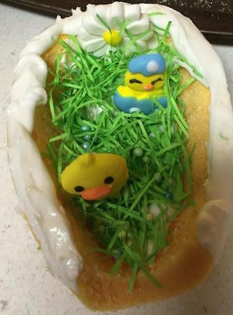 sugar eggs decorated inside