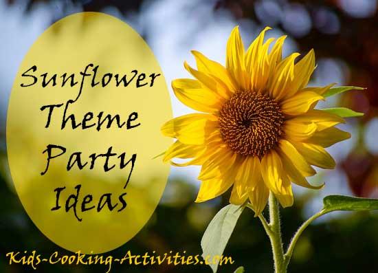 sunflower party ideas