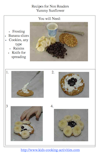 sunflower picture recipe