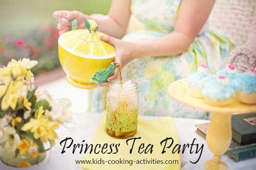 princess tea party ideas