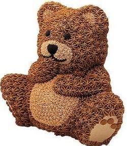 teddy bear stand up cake pan