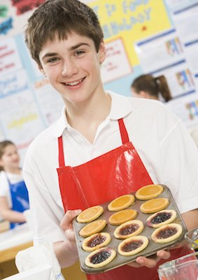 teenage chef cooking class
