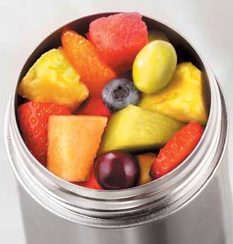 thermos with fruit salad