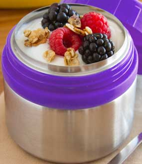 thermos with yogurt
