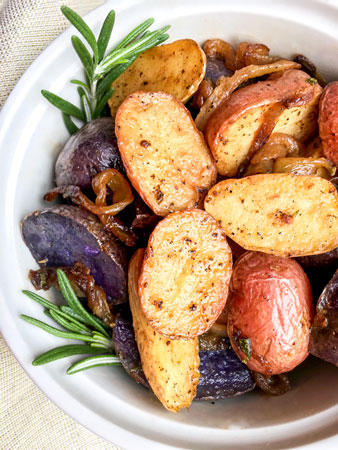 multi colored potatoes