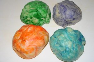 tie dye dough