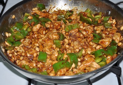 kung pao chicken done