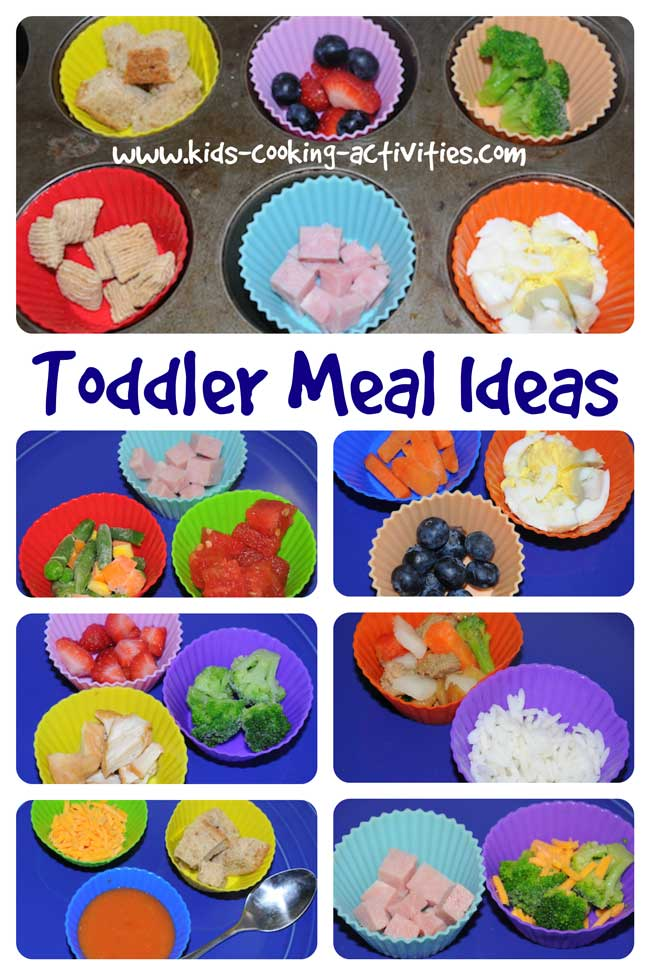 toddler meal ideas in silcone cups