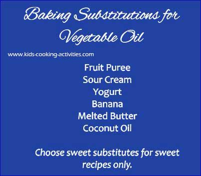 vegetable oil substitutions