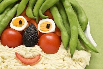 smiling face food