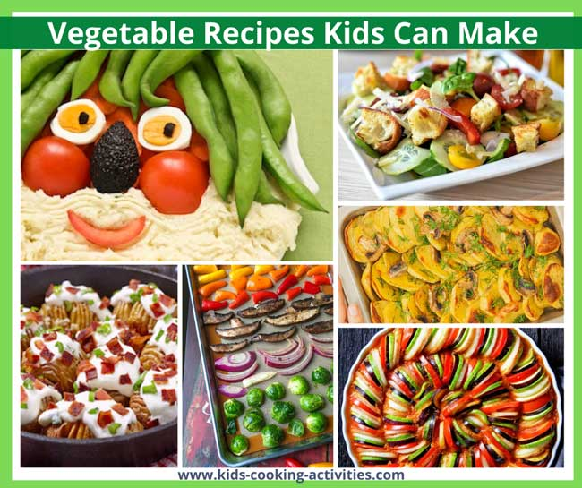 vegetable recipes kids can make