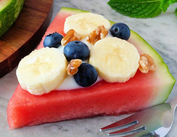 watermelon slice snack