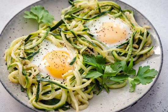 zucchini noodle nest
