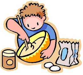 boy stirring and cooking