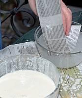 dipping paper mache