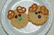 reindeer peant butter cookies with Christmas cookie recipes