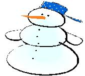 graphic of snowman for cold weather recipes