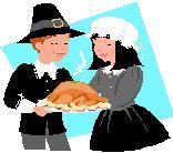 Kids Thanksgiving recipes picture of pilgrims and a turkey for kids thanksgiving recipes page