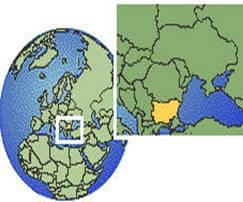 Eastern Europe on the globe