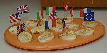 egg boats for kids cooking activities.