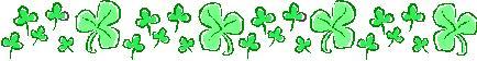 st patricks day shamrocks clover banner